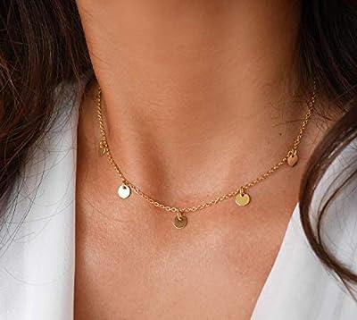 Collier cinq médailles - collier plaqué or - cercles dorés - bohème-chic - boho - collier disques - collier 5 médailles or - collier rond