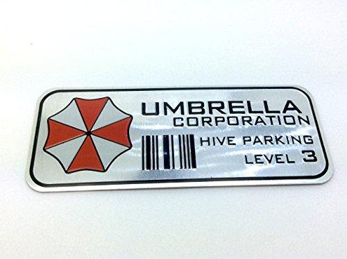 Preisvergleich Produktbild Umbrella Corporation Hive Parking Resident Evil Metall Auto Aufkleber Abzeichen Decal (Schwarz)