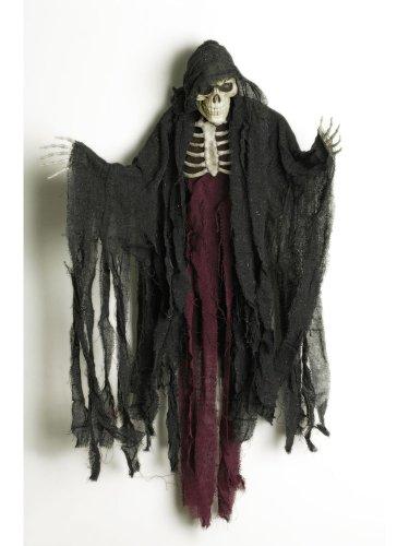 Unbekannt Sensenmann Halloween-Hängedeko Skelett schwarz-rot 85cm Einheitsgröße