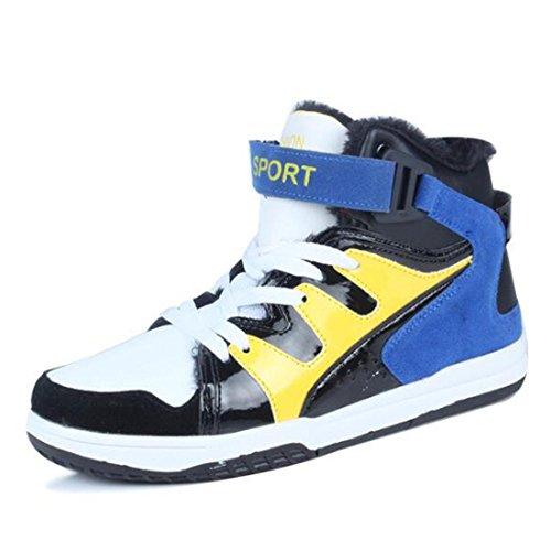 Le scarpe da tennis high-top autunno e invernale più il cotone hanno aumentato le scarpe casual degli uomini di pizzo cotton blue