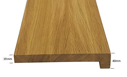 Holz-Projekt-Summer Fensterbank Eiche Massivholz Fensterbrett Treppenstufe Renovierungsstufe Trittstufe Maßanfertigung (Muster, Oberfläche unbehandelt)