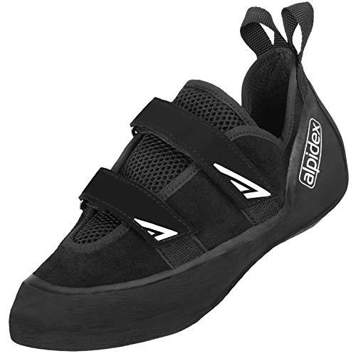ALPIDEX Scarpe da Arrampicata - con Chiusura a Velcro, simmetriche, Senza pretensionamento - Disponibile nelle Taglie 36-49, erwachsenenschuh triop:48