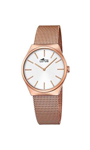 Lotus Damen Analog Quarz Uhr mit Edelstahl Armband 18289/1