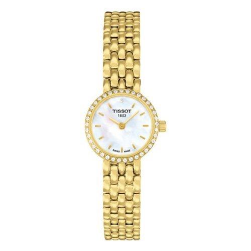Tissot LOVELY madre de perla Dial Chapado en oro Damas Reloj T0580096311600