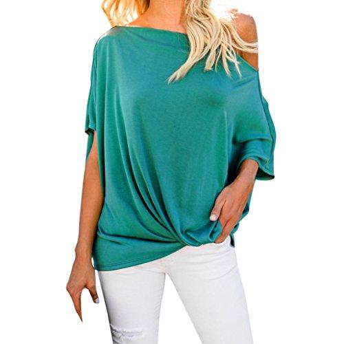 ITISME Damen TOPSDamen Shirt Chiffon Bluse Langarmshirt mit Reißverschluss Vorne V-Ausschnitt Tops T-ShirtOnly for Impact Sales Nur für Impact Sales -