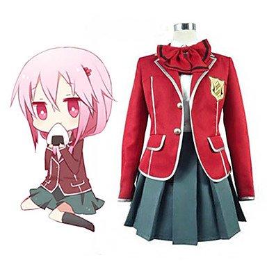 Guilty Crown Yuzuriha Inori tennouzu High School Mädchen Schuluniform cosplay kostum,Maßgeschneiderte(Mailen Sie uns Ihre Größe),Größe L: Höhe 165cm-170cm (Guilty Crown Cosplay Kostüm)