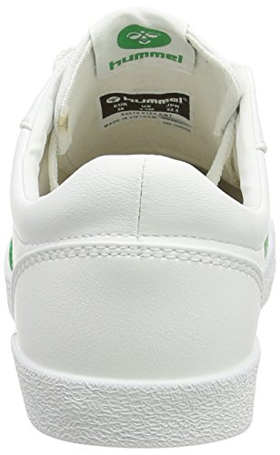 Hummel DEUCE COURT SPORT, Sneakers basses mixte adulte Blanc - Weiß (White/Fern Green 9165)