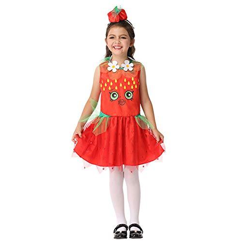 Kostüm Seide Marvel - HSKS Halloween Kinder Cosplay Performance Cosplay Strawberry Kleid
