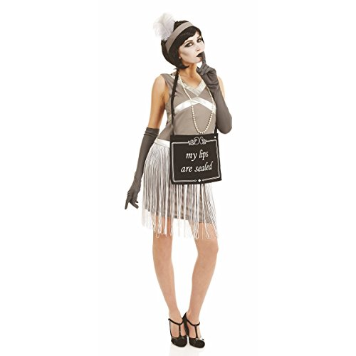 Silent Film Flapper Women's Costume Halloween 20's Fancy ()