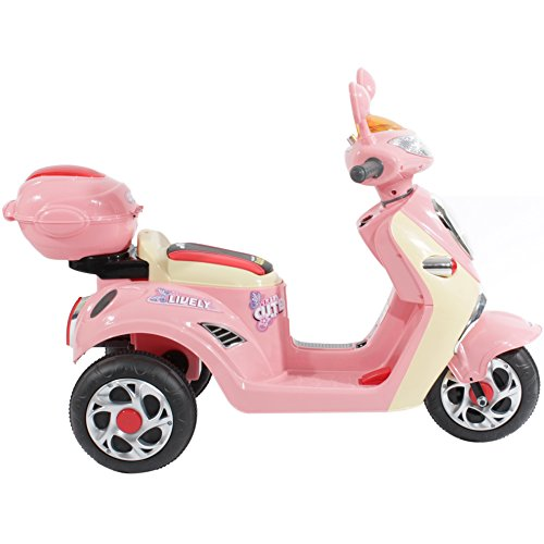 Charles Jacobs Ride on Kids Motorcycle Electric Scooter Motorbike 6V Battery Operated Toy Bike (Pink)
