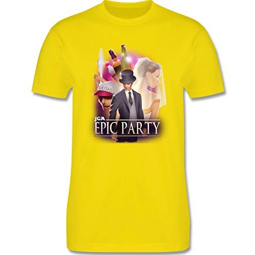 JGA Junggesellenabschied - JGA Epic Party Filmposter - Herren Premium T-Shirt Lemon Gelb