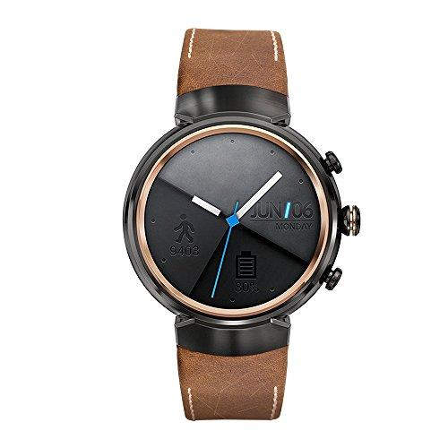 Kartice per Asus ZenWatch 3band, vintage in vera pelle Smart Watch Band cinghia sostituzione del cinturino con fibbia di chiusura in metallo per Asus ZenWatch 3WI503Q (brown-14mm)