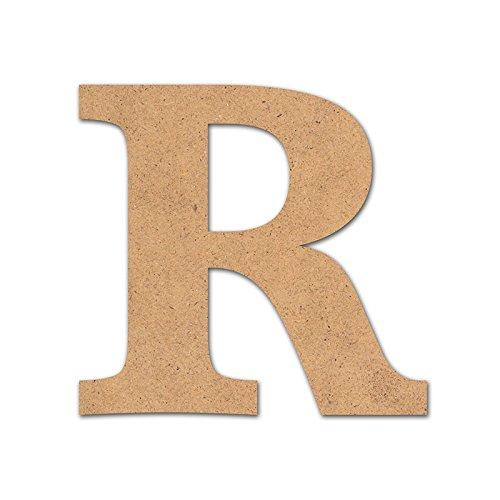 Detalles Infantiles - Lettre R en bois 10 cm pour loisirs créatifs