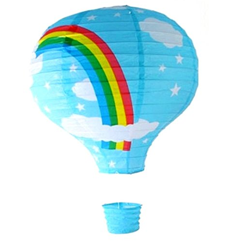 (Deckenlampenschirm Blauer Ballon Regenbogen-Motiv 16 cm)