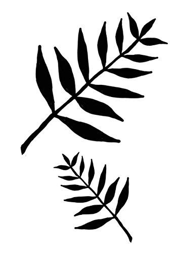 Schablone 'Blätter' - Motivschablone - Airbrushschablone - wiederverwendbare Motivschablone - siehe...