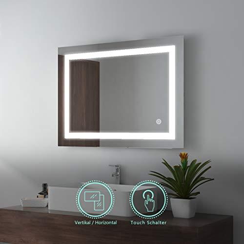 EMKE LED espejo baño 80x60cm espejo baño iluminación