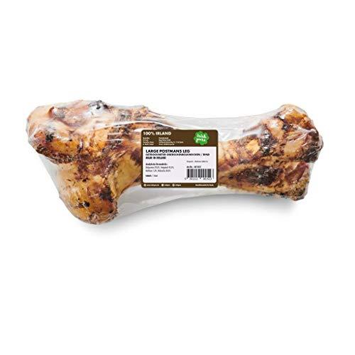 Irish Pure Large Postmans Leg - Großer Oberschenkel Rinder-Knochen, Riesen Hunde Kauknochen, 100% Natürlicher Hundeknochen, Snack, Hundeleckerli, Hundesnack Getreidefrei, Kausnack - ca.33cm/1kg