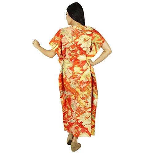 Vêtements Phagun Maxi Vêtement De Nuitlongues En Coton Bohemian Kaftan Multicolore