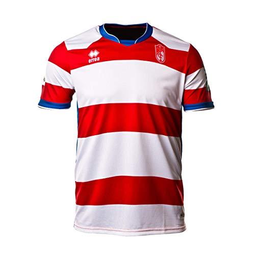 Errea Granada CF Primera Equipación 2018-2019, Camiseta, Blanco-Rojo, Talla S
