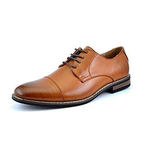Bruno Marc PRINCE-06 Zapatos de Cordones Vestir Oxford Clásico para Hombre Marrón 42.5 EU/9.5 US