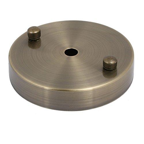 sourcingmap Deckenleuchte Lampenbaldachin Deckenrosette Platte Basis Nickel 100mmx20mm