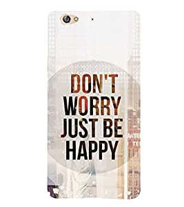 FUSON Don'T Worry Love It 3D Hard Polycarbonate Designer Back Case Cover for Gionee S6