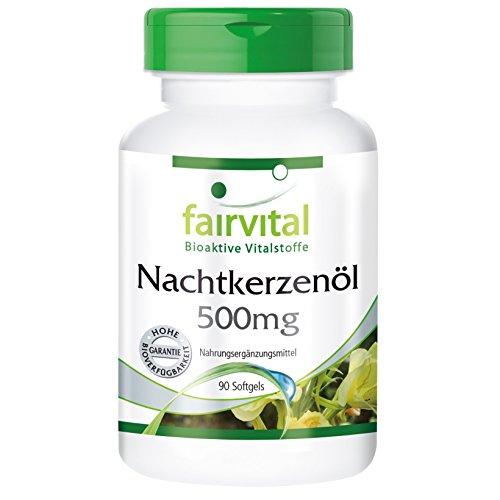 Nachtkerzenöl Kapseln 500mg - HOCHDOSIERT - 90 Softgels - reich an GLA - Nachtkerzen Samen Öl