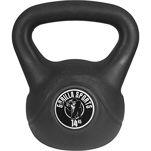 GORILLA SPORTS Erwachsene Kettlebell aus Kunststoff Logo 14kg, 14 KG