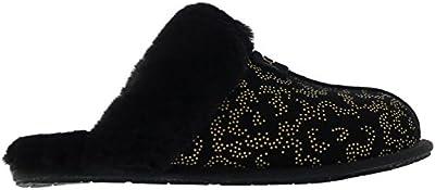 Ugg Australia Womens Scuffette II Metallic Conifer Suede Sandals