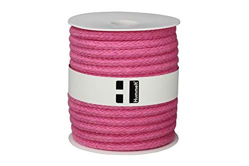 Hummelt® SilverLine-Rope Baumwollseil Baumwollkordel (H) 8mm 20m rosa auf Rolle