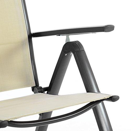 nexos-deluxe-klappstuhl-gepolstert-textilene-creme-rahmen-dunkelgrau-gartenstuhl-liegestuhl-klappbarer-stuhl-aus-aluminium-kunststoff-2