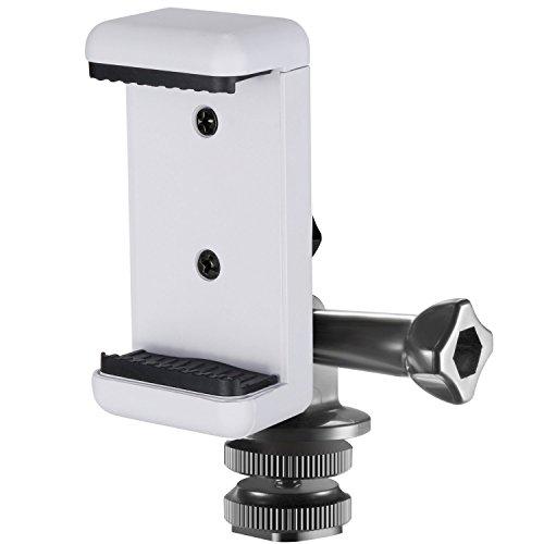 Neewer 10090932 3-in-1 Hot Shoe Mount Adapter Kit, inklusive Blitzschuh Mount, GoPro Adapter und Handy Halterung, weiß