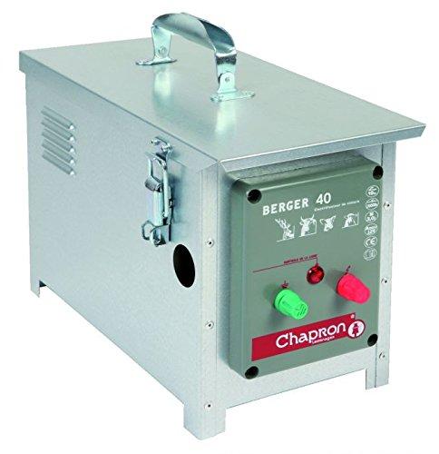 Chapron Weidezaungerät BERGER 40, 12 Volt Batteriegerät für Rinder, Wildtiere, Schafe, Schweine, Elektrozaungerät, Weidezaun, Elektrozaun