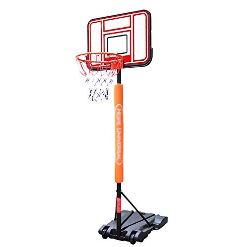 WOOCF Tragbarer Basketballkorb mit 30-Zoll-Rückwand Freistehender Basketballständer for Kinder Kind Indoor Outdoor Mini-Basketballkorb System Höhenverstellbar
