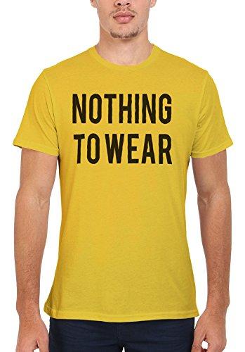 Nothing To Wear Shopping Girl Men Women Damen Herren Unisex Top T Shirt Licht Gelb