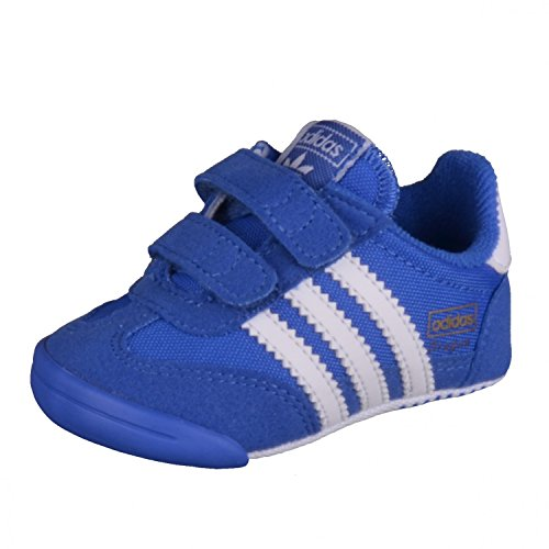 adidas Dragon L2w Crib, Sneakers Basses Mixte Enfant, XX Bleu (Blue/ftwr White/blue)