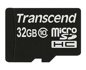 Transcend 32 Go Carte mémoire microSDHC Classe 10 TS32GUSDC10M