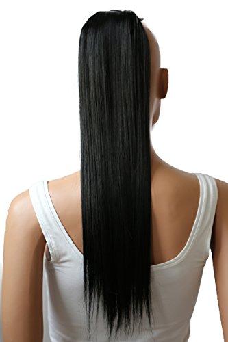 PRETTYSHOP Haarteil hairpiece Zopf Pferdeschwanz Haarverlängerung 60cm glatt diverse Farben HC9
