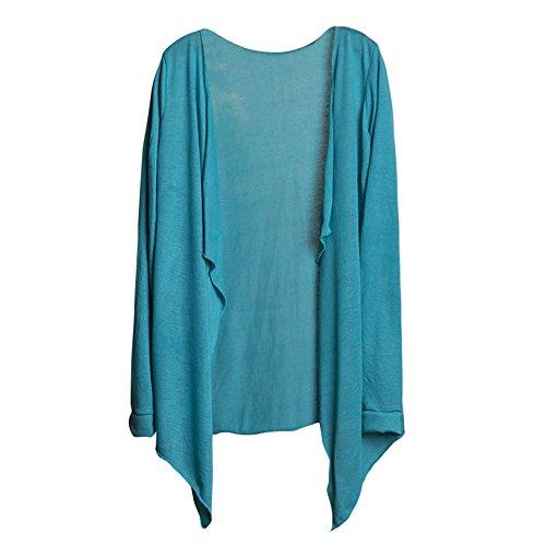 BHYDRY Sommer-Frauen-Lange dünne Strickjacke modale Sonnenschutz-Kleidungs-Oberteile(H,Einheitsgröße)