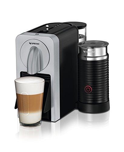 Nespresso De'Longhi Prodigio & Milk EN 270 SAE - Cafetera, 1150-1260 W, capacidad 0,8 l, eyección automática de cápsulas, 19 bares de presión, color plata width=