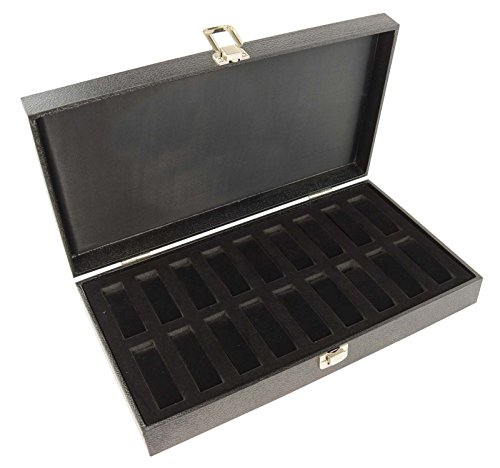 Display Case with 18 Watch/Bracelet Collars - Solid Lid (2172B)