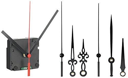 St. Leonhard Funkuhrwerk: Funk-Uhrwerk mit 3 Zeigersets für selbstgestaltete Uhren (Funkuhrwerk schleichende Sekunde)