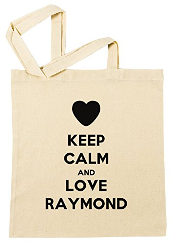 keep-calm-and-love-raymond-borsa-della-spesa-spiaggia-cotton-riutilizzabile-shopping-bag-beach-reusa