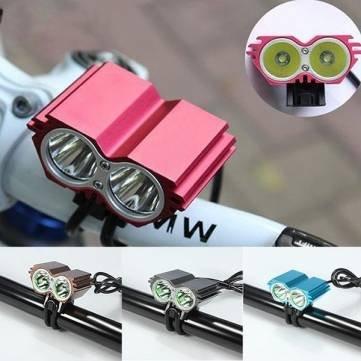 Bheema 5000lm CREE XM-L U2 2x LED Fahrrad Scheinwerfer vorne Head Light - Red