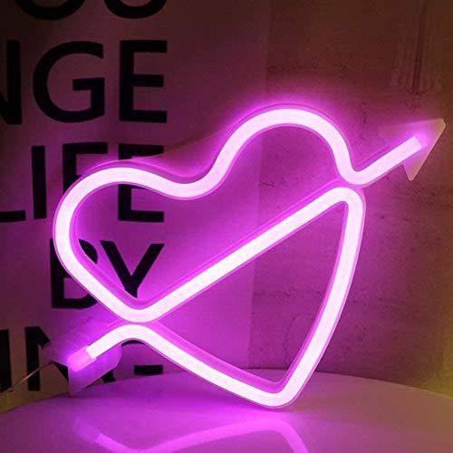 AIZESI Cupid Lamp Amor NeonLicht,Cupid Neon Lampen,Marquee Batterie oder USB Betrieben Tabelle führte Lichter WandDekoration für Mädchen Schlafzimmer,Wohnzimmer,Party als Kinder Geschenk(Pink)