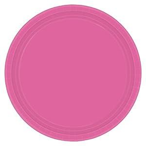 Amscan International 55015-103-brillante rosa platos de papel 23cm
