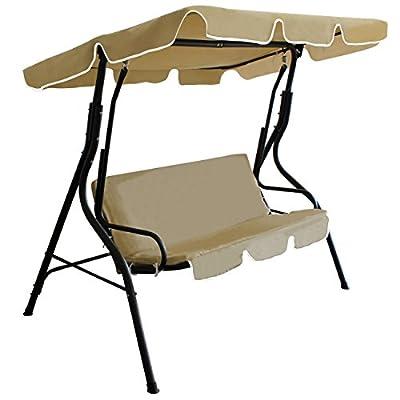 [casa.pro] Hollywoodschaukel (3 - Sitzer)(mehrfarbig)(gepolstert) Gartenschaukel / Sitzschaukel / Schaukel / Gartenbank