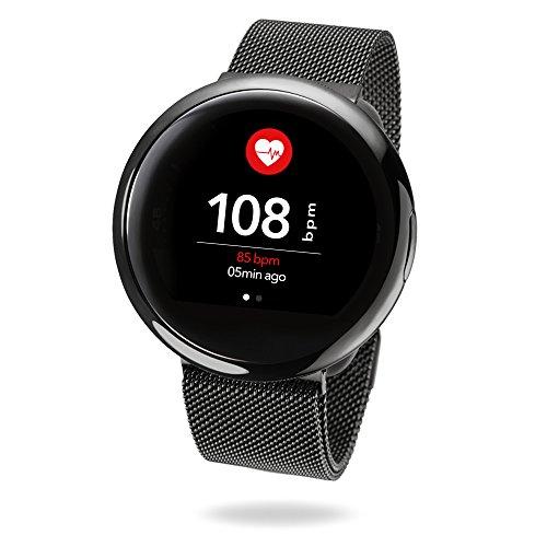 MyKronoz ZeRound 2 HR Elite Smartwatch con Schermo Circolare, Nero Lucido