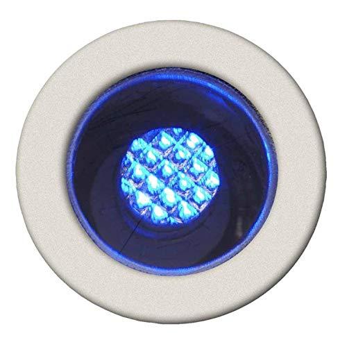 COSA-Kit de 10 Spots ronds LED encastrables d'extérieur Ø1,5cm Bleu Brilliant