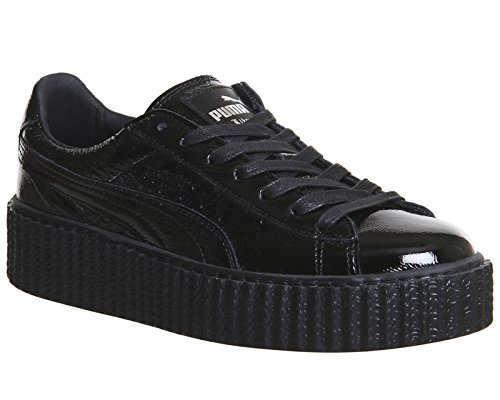 SHOES PUMA x FENTY RIHANNA CREEPER WRINKLED PATENT WOMEN Black Cracked Leather Fenty